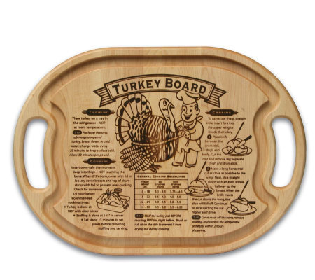"Solid Maple Oval 15"" x 21"" x 3/4"" Turkey Board"