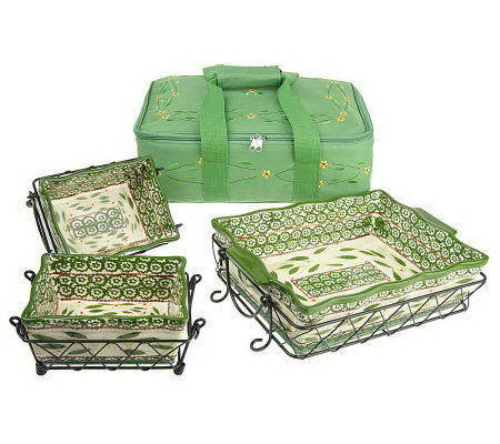 Temp-tations Old World 9-pc. Set w/Thermal Embroidered Carrier Tote