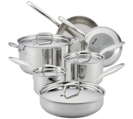 Breville Thermal Pro Clad Stainless Steel 10 PcCookware Set