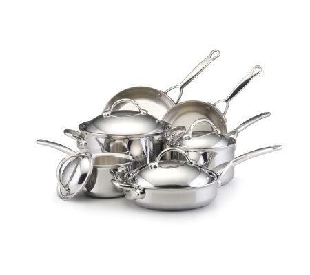 BonJour Cookware Stainless Clad 10-Piece Set