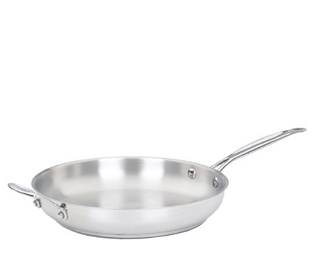 "Cuisinart Chef's Classic Stainless 12"" Open Skillet"