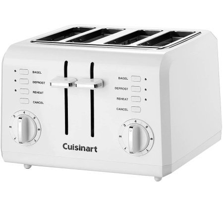 Cuisinart 4-Slice Compact Plastic Toaster - White