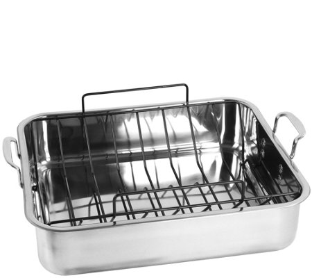 Oneida Stainless Steel Rectangular Roaster withU-Rack
