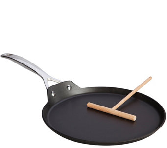 "Le Creuset Nonstick 11"" Crepe Pan and Rateau - K305279"