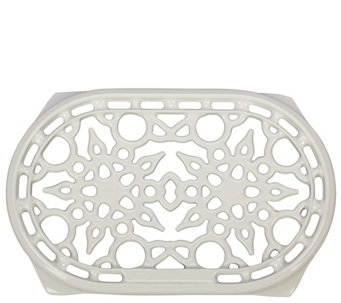 Le Creuset White Oval Cast-Iron Trivet - K305379