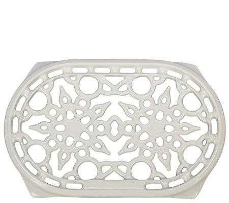 Le Creuset White Oval Cast-Iron Trivet