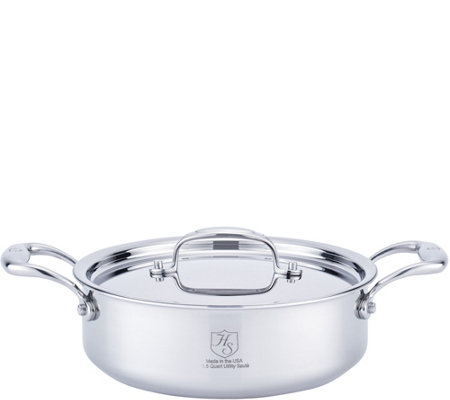 Hammer Stahl Stainless Steel Clad 2.5-qt Covered Utility Pan