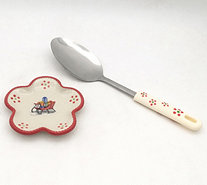 Temp-tations Old World Spoon Rest with Utensil - K377779