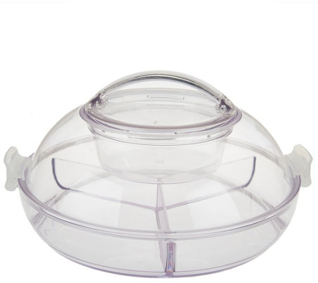 Iced Up Appetizer on Ice Divided Platter w/ Locking Lid