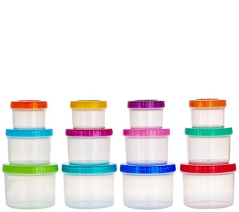 Lock & Lock 12 piece Multi-Color Twist Lid Storage Set - K43679
