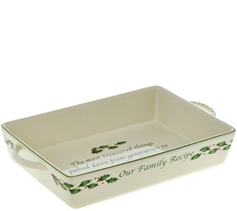 Lenox Holiday Porcelain Rectangle Baker - K44479