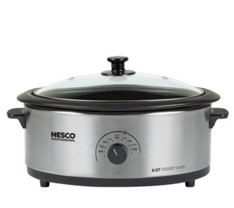 Nesco 6-qt Roaster Oven - Stainless Steel - K130880