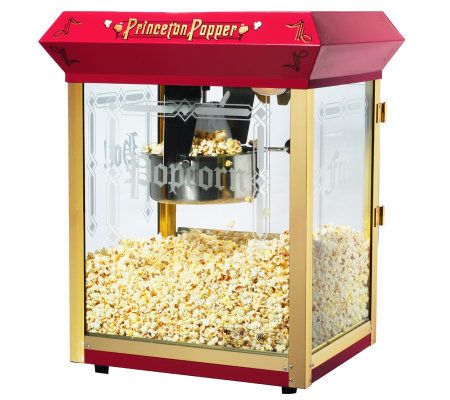 Red Princeton 8-oz Antique-Style Popcorn Machine