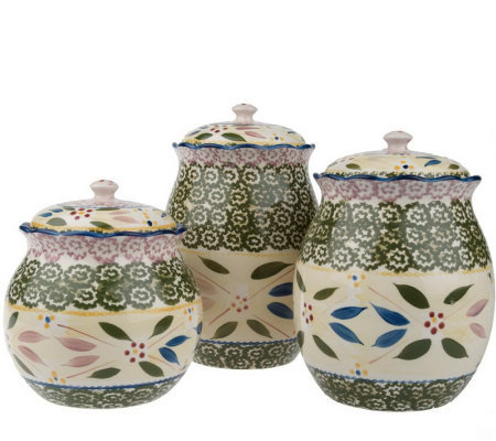 Temp-tations Old World 3-piece Fluted Canister Set