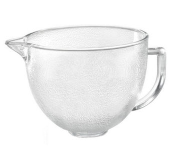 KitchenAid 5-qt Tilt Head Hammered Glass Bowl - K301980