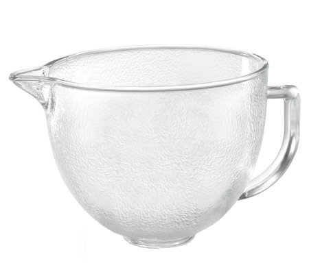 KitchenAid 5-qt Tilt Head Hammered Glass Bowl