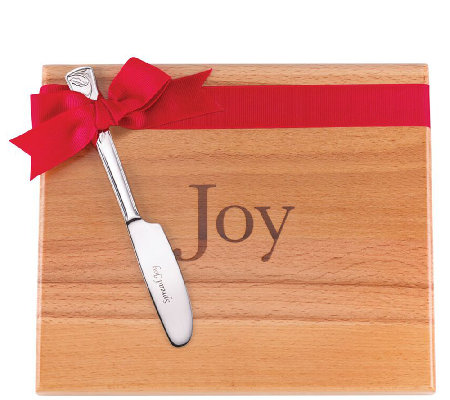 Lenox Joy Cutting Board w/Holiday Spreader