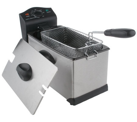 CooksEssentials 3 Quart 1700 Watt Stainless Steel Deep Fryer