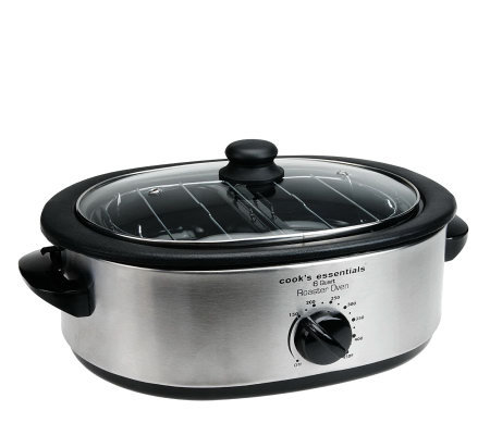 CooksEssentials 6 qt. Nonstick Roaster Oven w/Buffet Server