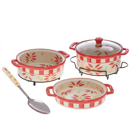 Temp-tations Old World Cook & Look 3-pc. Bake Set w/Serving Spoon