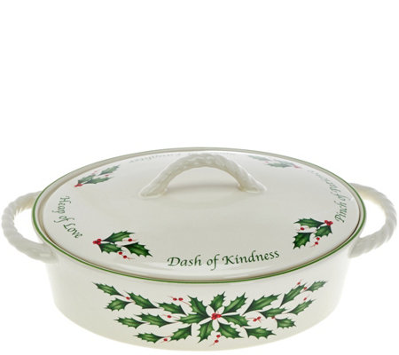 Lenox Holiday Porcelain Covered Casserole