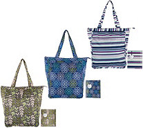 Rachael Ray Set of 3 Insulated Market Totes in Gift Boxes - K46380
