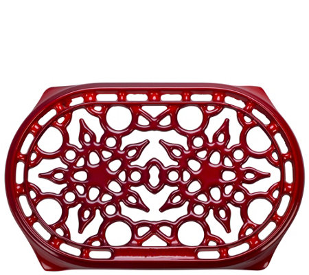 Le Creuset Red Oval Cast-Iron Trivet