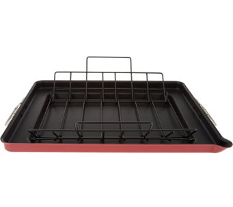 """As Is"" CooksEssentials Slimline Roaster Pans - K307681"