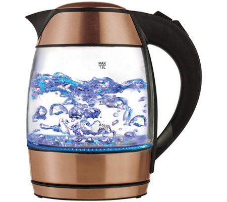 Brentwood 1.8-Liter Electric Glass Kettle WithTea Infuser