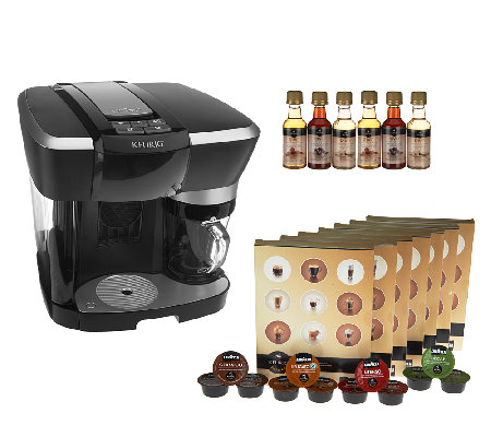 Keurig Rivo Cappuccino & Latte System w/ 84 Rivo Packs & 6 Syrups