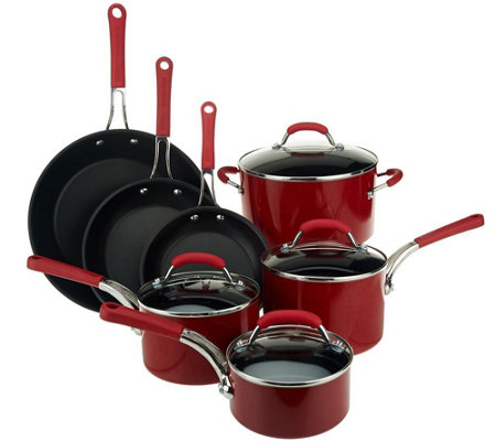 Farberware Millennium 11-Piece Porcelain Cookware Set
