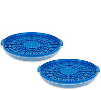 CooksEssentials Set of 2 Heat & Serve Ultra Drain Strainers - K42281