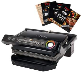 T-Fal Opti Grill with Ceramic Plates & Recipe Book - K42781