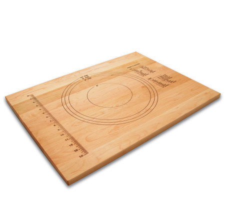 "18"" x 24"" Solid Maple Pastry Board w/ MeasuringMarks"