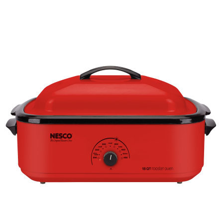 Nesco 18-qt Roaster Oven - Red