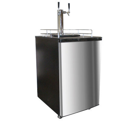 Nostalgia Electrics Twin Tap Beer Kegerator - Stainless Steel