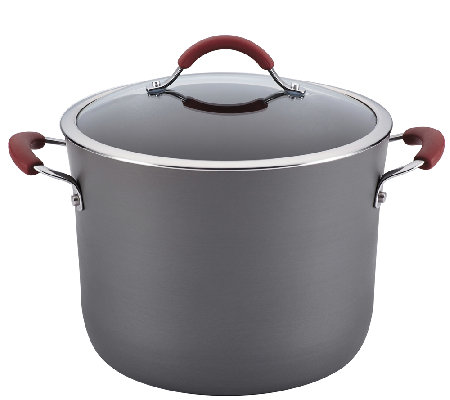 Rachael Ray Cucina Hard-Anodized Nonstick 10-QtCov Stockpot
