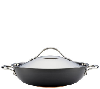 "Anolon Nouvelle Copper Hard-Anodized Nonstick 12"" Wok - K305982"