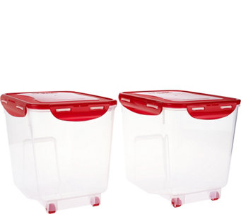 Lock & Lock 2pc Bulk Storage Bins w/ Wheels - K43682