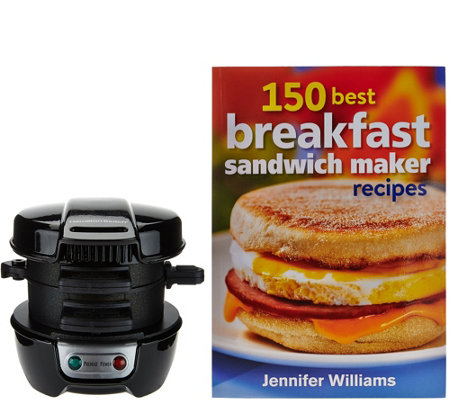 Hamilton Beach Breakfast Sandwich Maker w/ Recipe Book