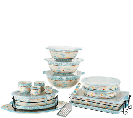 Temp-tations Old World Spring Colors 18-pc Bake and Serve Set