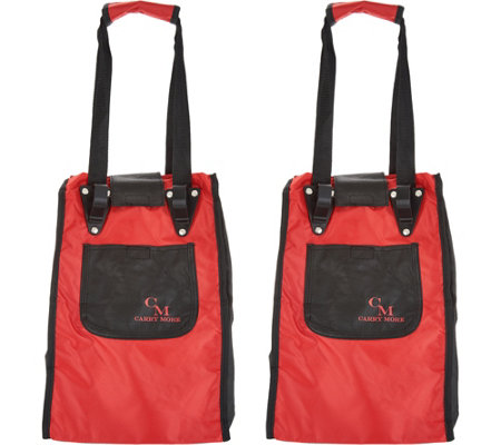 CarryMore Set of 2 Resuable Shopping Bags with Cart Clips