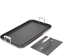 "All-Clad Hard Anodized 13""x 20"" Grande Griddle with Bonus Press - K47282"