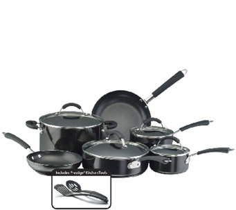 Farberware Millennium Aluminum 12-Piece Set - Black - K131783