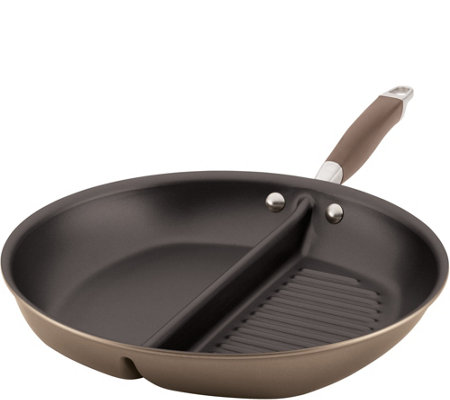 "Anolon Advanced 12.5"" Hard-Anodized Grill & Griddle Skillet"