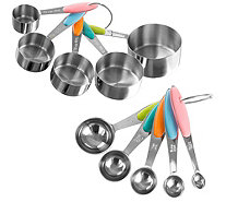 Classic Cuisine Stainless Steel Measuring Cups and  Spoons Set - K376583