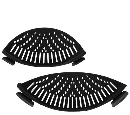 Set of 2 Silicone Pot & Pan Strainers