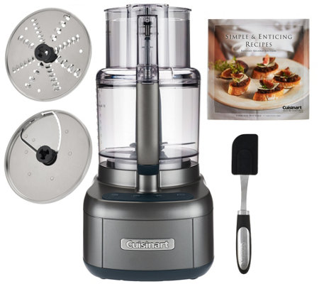 Cuisinart 11 Cup Food Processor w/ 2 Discs, Spatula, & Recipe Book