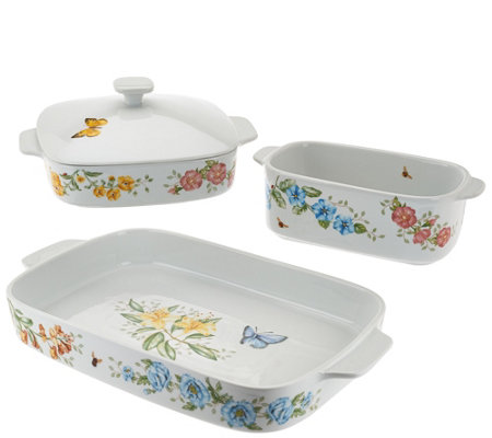 Lenox 4pc. Butterfly Meadow Oven to Table Bakeware Set
