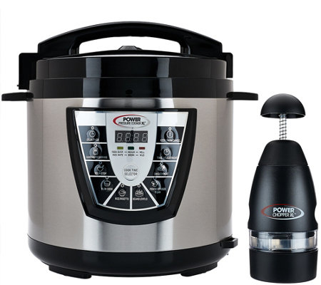 Power Pressure Cooker XL Digital 8 qt. Pressure Cooker w/ Dual Racks